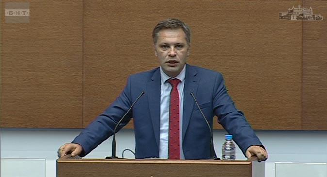 Народният представител Александър Сиди в изказване относно доклада за дейността на прокуратурата.